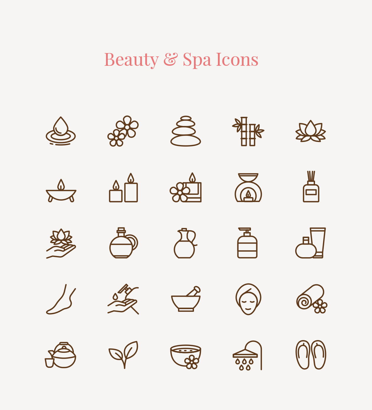 beauty  u0026 spa icons