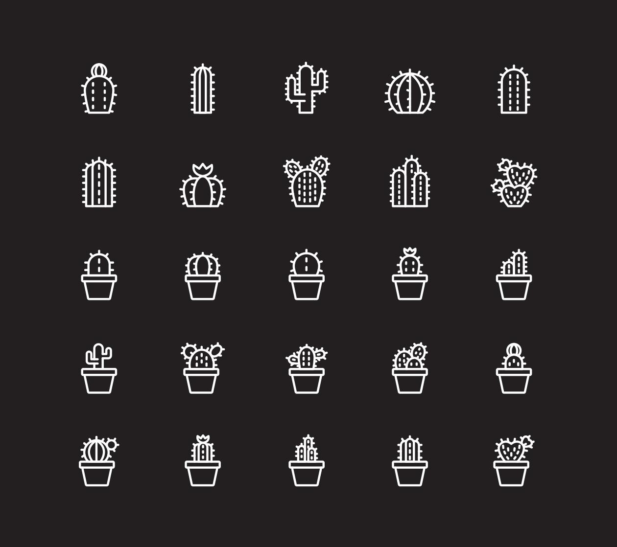 Cactus Plant Icons