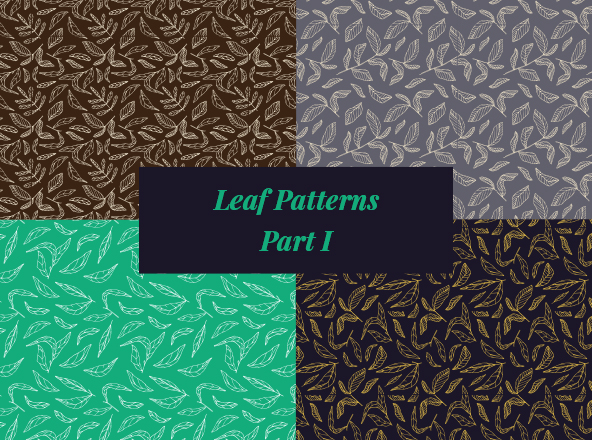 Vector Hand Drawings Leaf Patterns