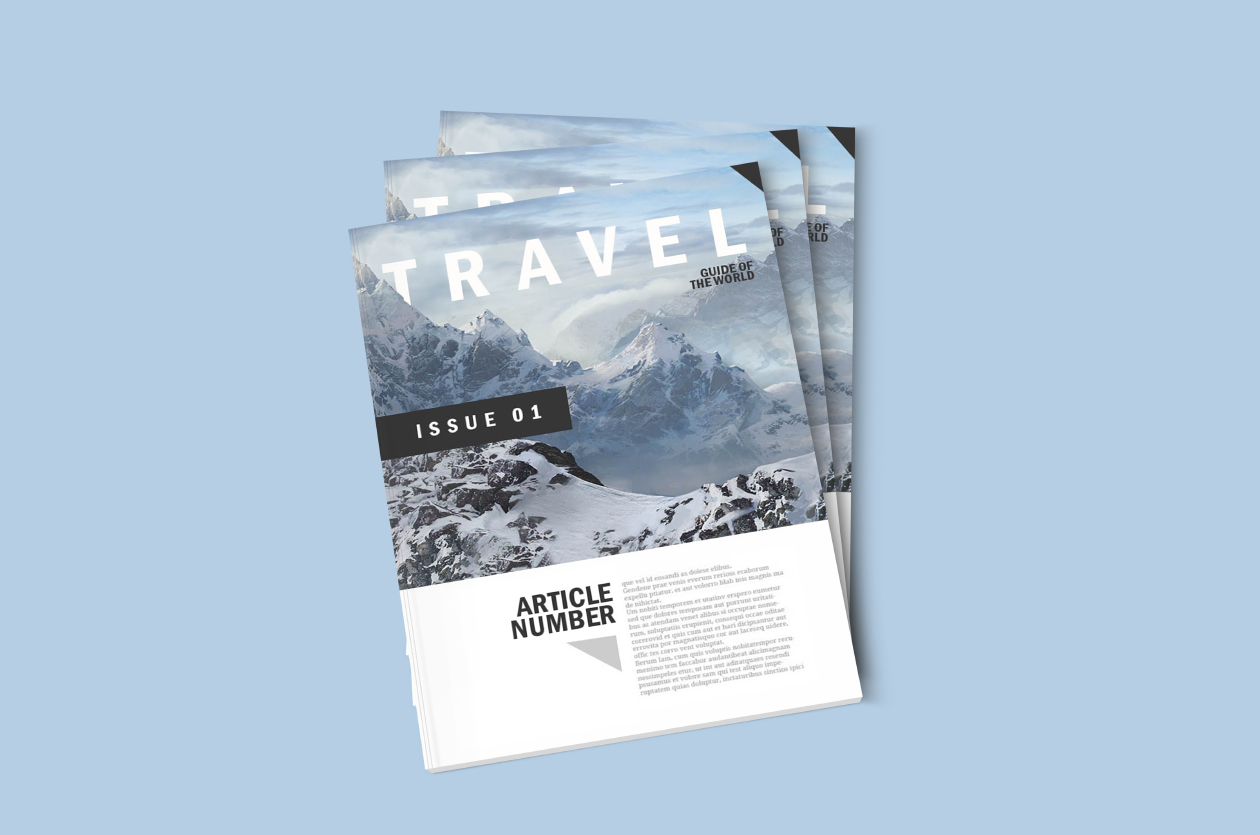 Free Magazine Mockup Template Photoshop Psd