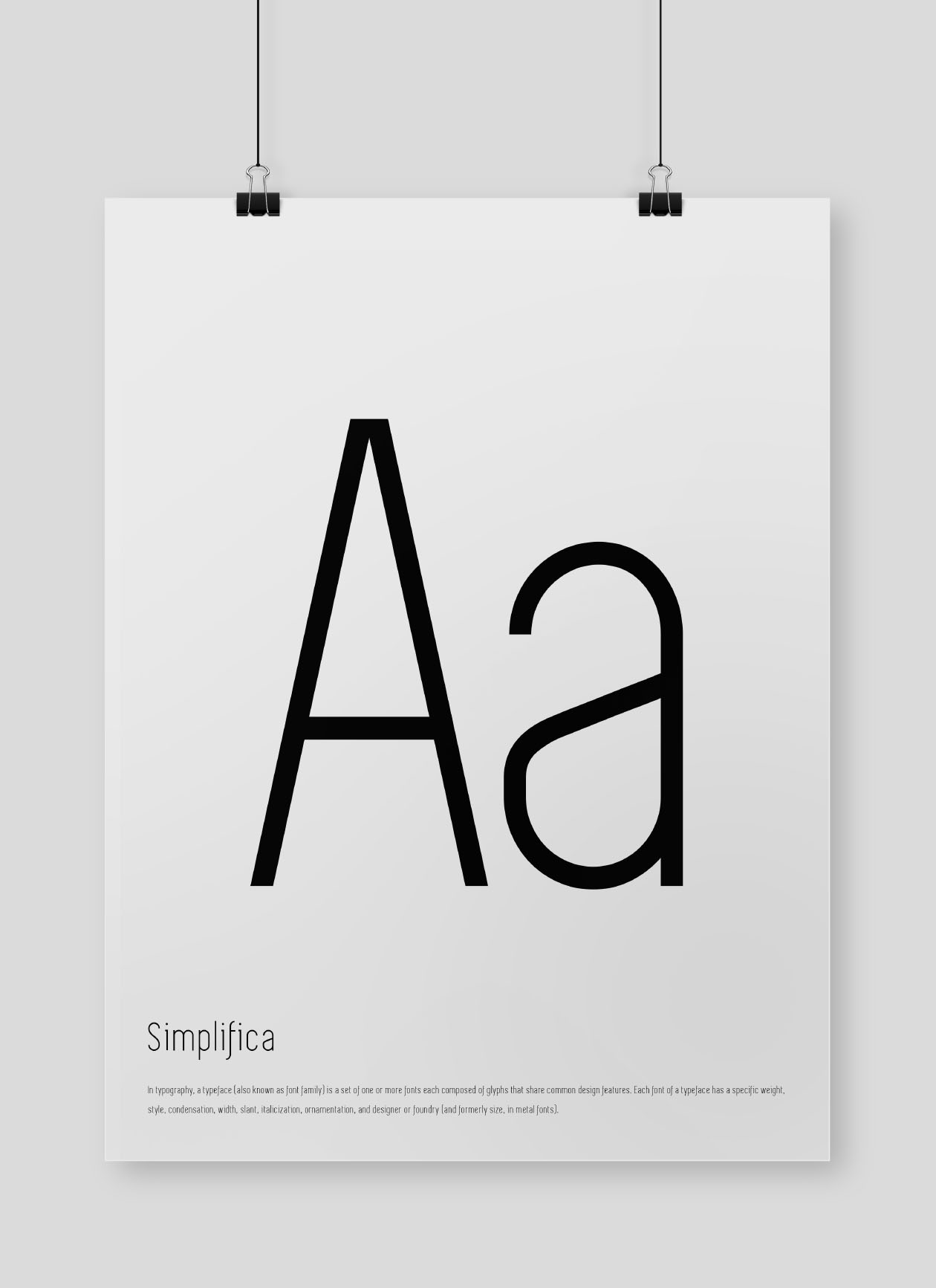 simplifica font poster