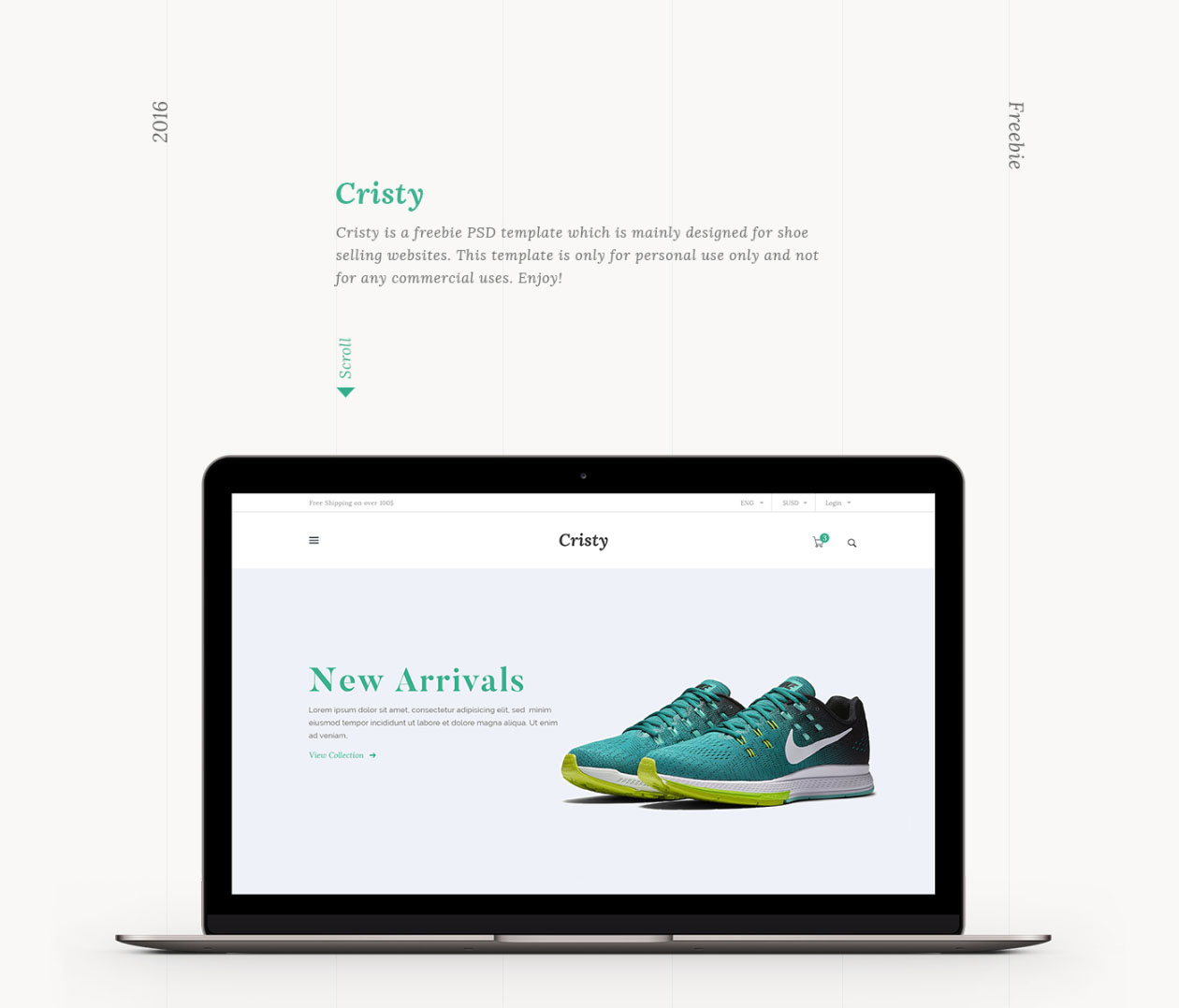 Cristy e commerce website template for E commerce sites templates