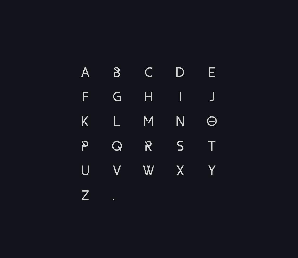 Form Font Letters