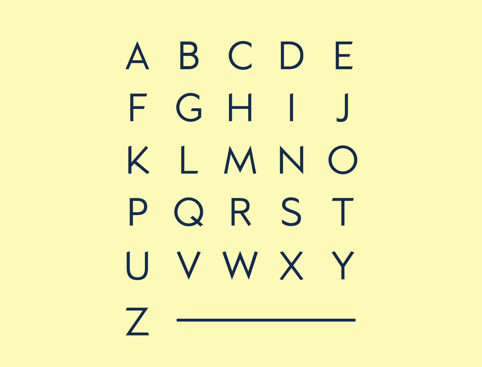 Kano Typeface Uppercase