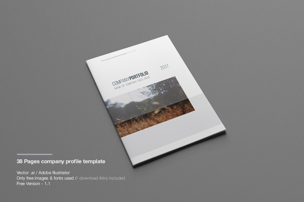 Company profile print template company profile template profile template flashek