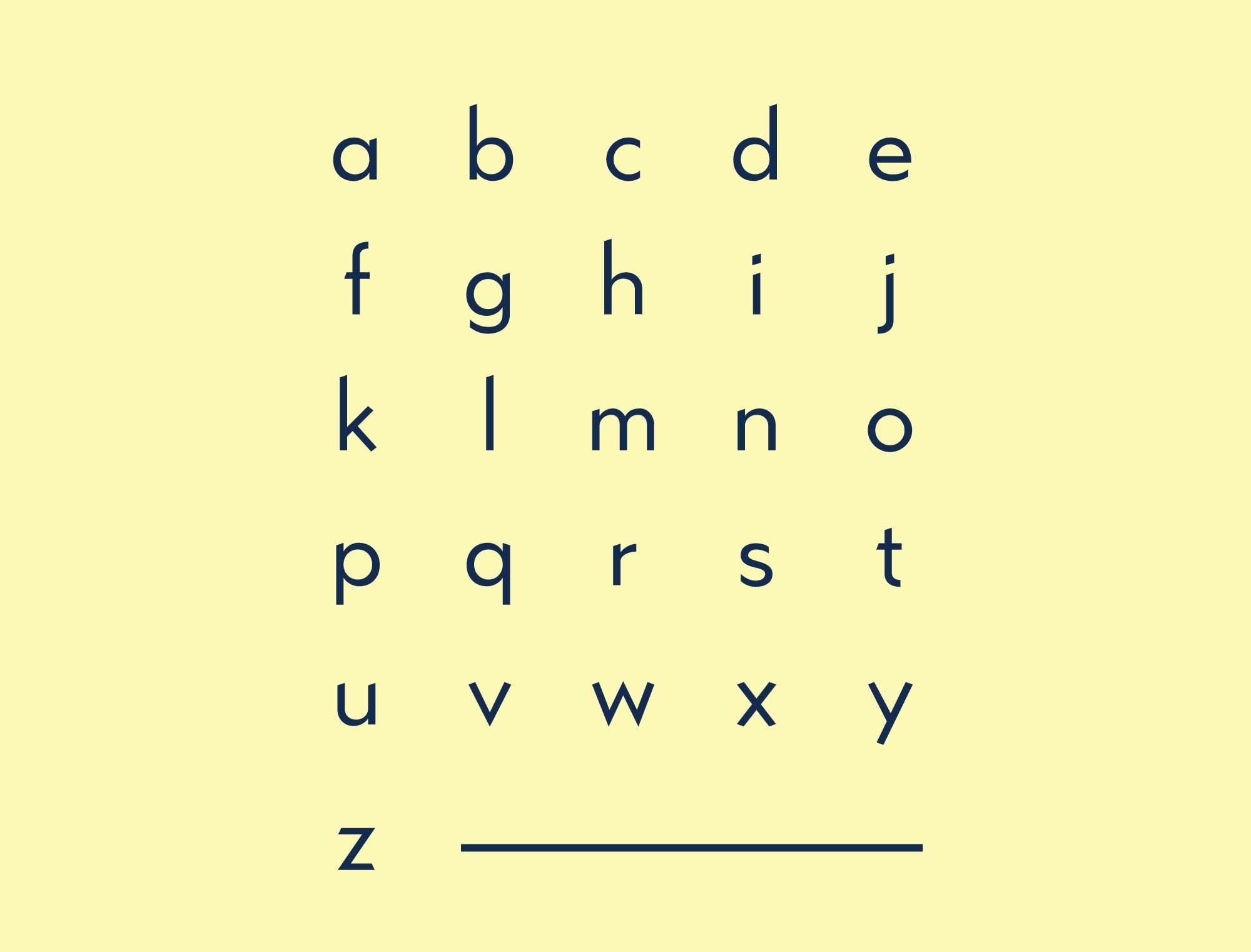 Kano Typeface Lowecase
