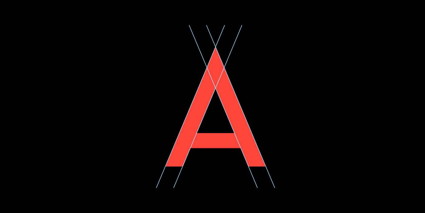 Noir Typeface Letter A