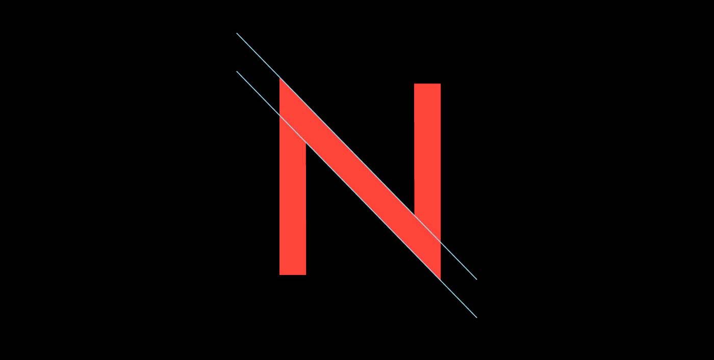 Noir Typeface Letter N