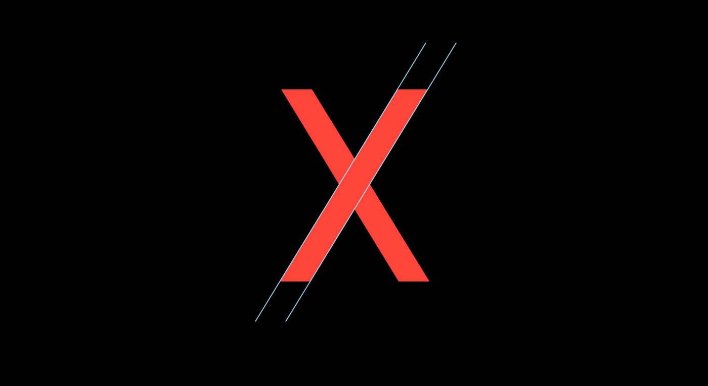 Noir Typeface Letter X