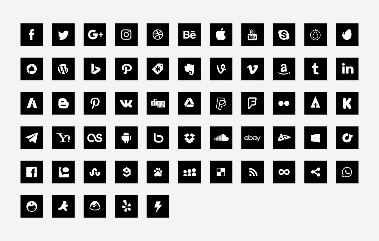 Square Social Media Icons