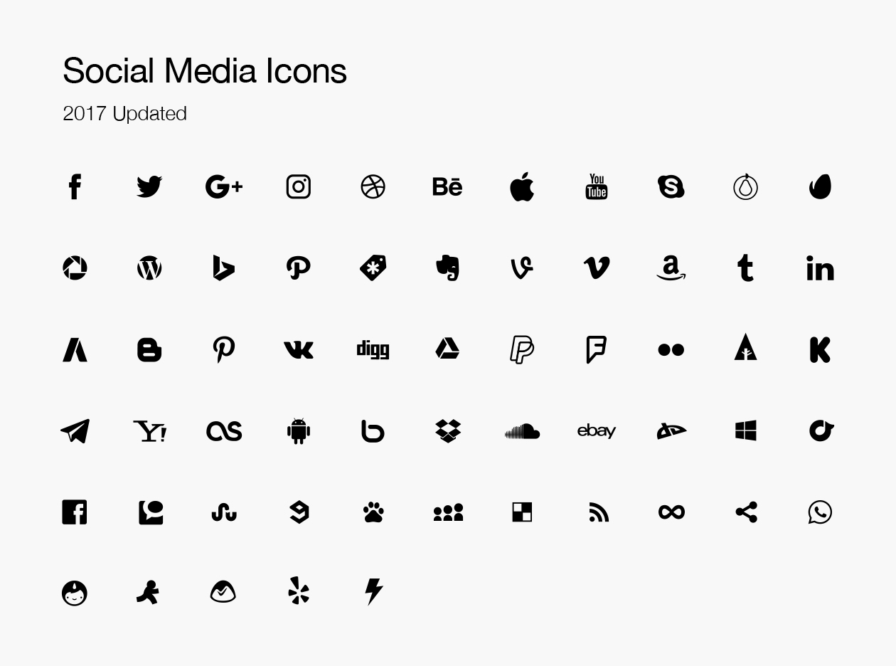 Graphic Design Software Free Vector Social Media Icons 2017