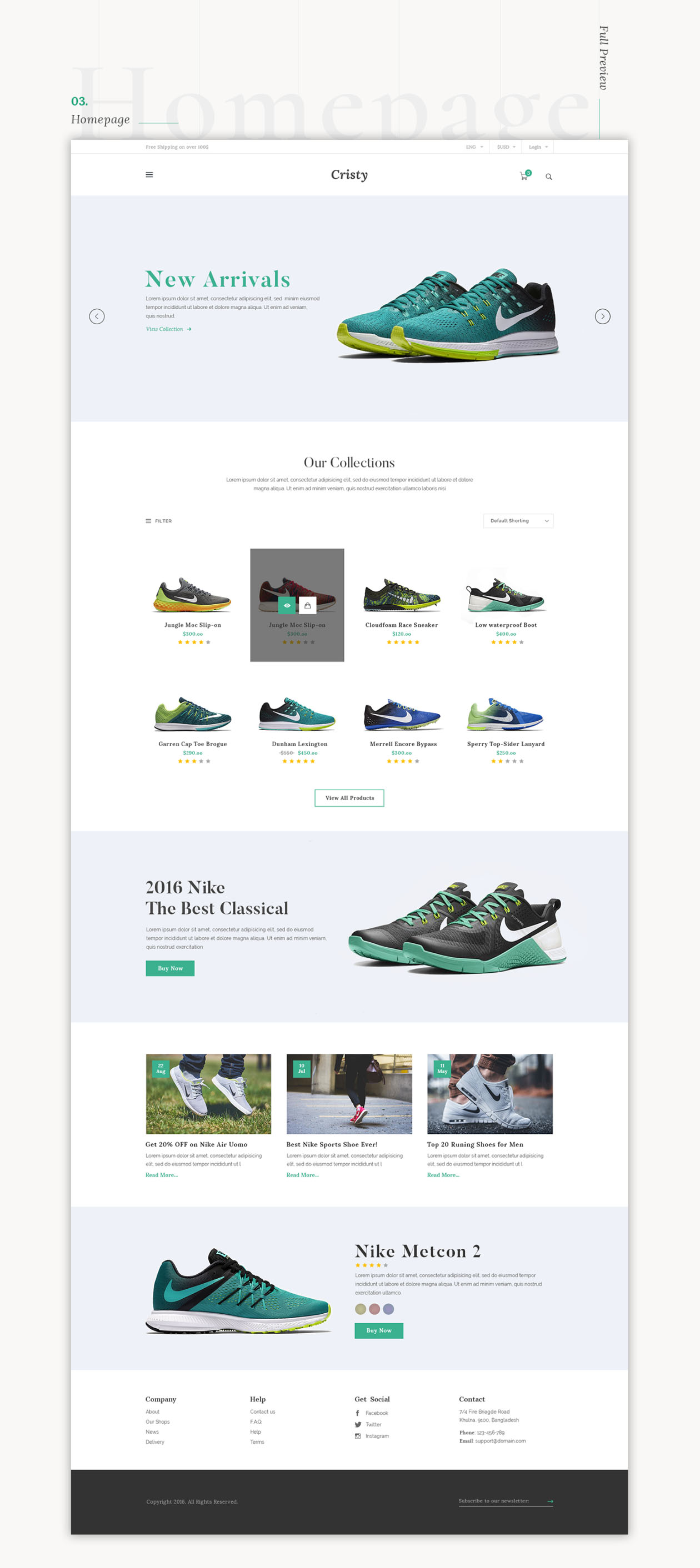 E-commerce Website Template Product Page