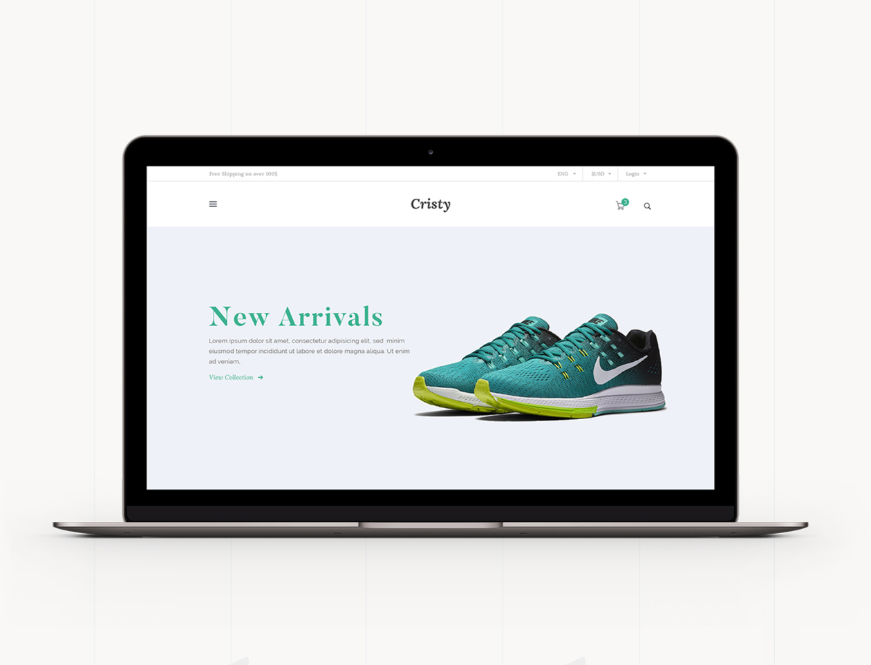 Cristy - E-commerce Website Template