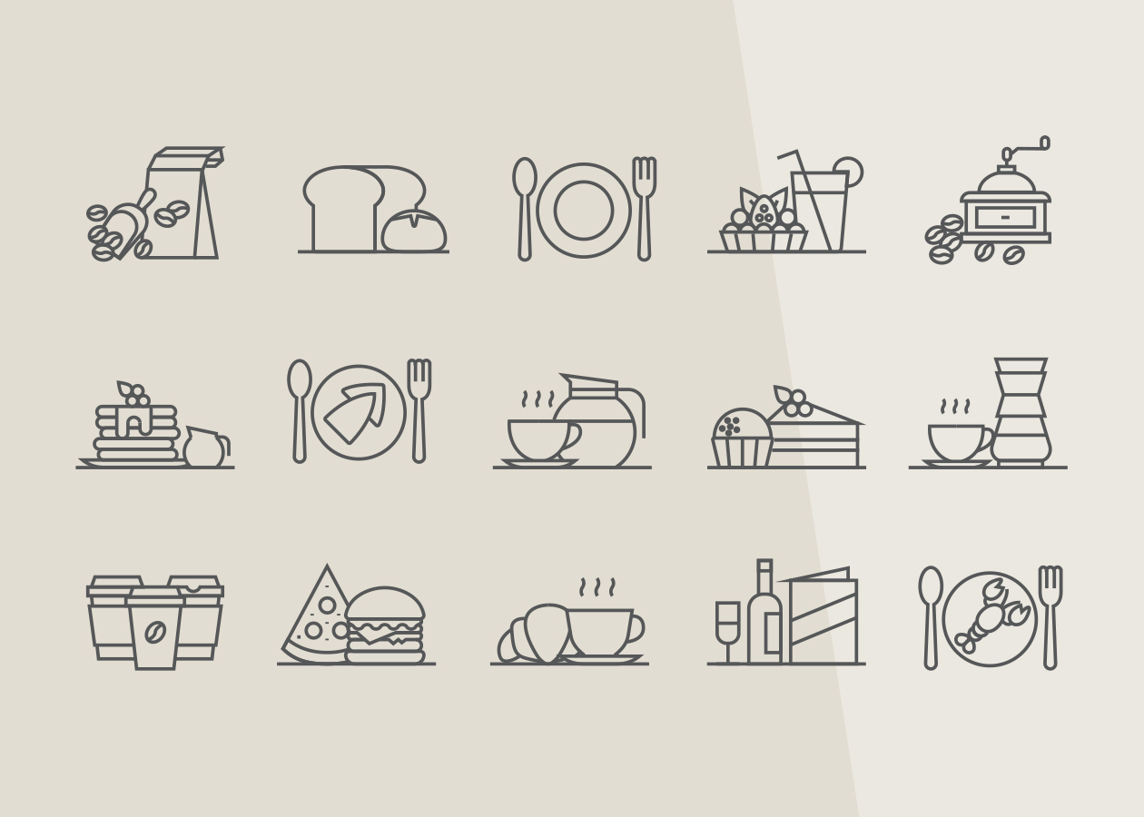 Restaurant & Coffee Icons