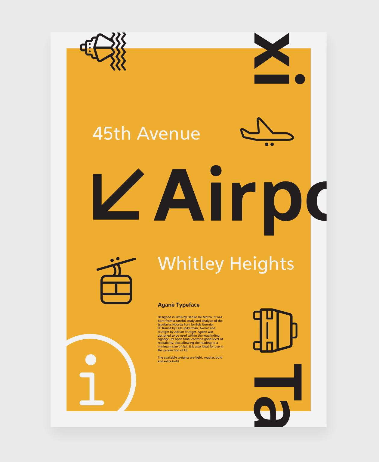 Aganè Typeface Poster