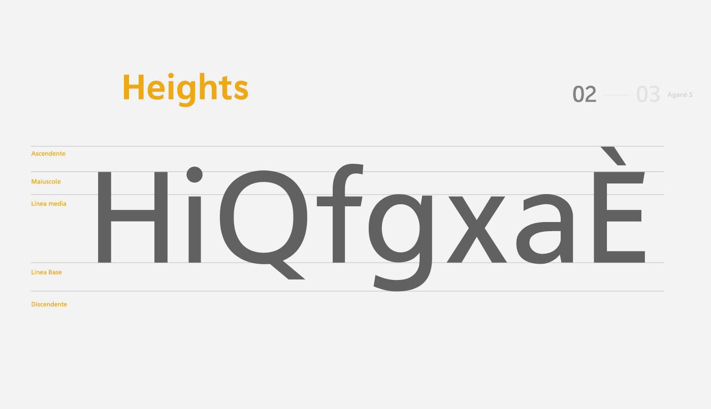 Aganè Typeface Letters