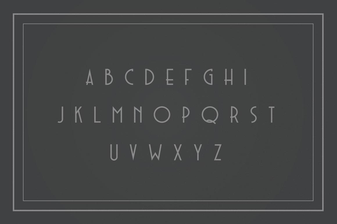 Noirside Font Alphabets