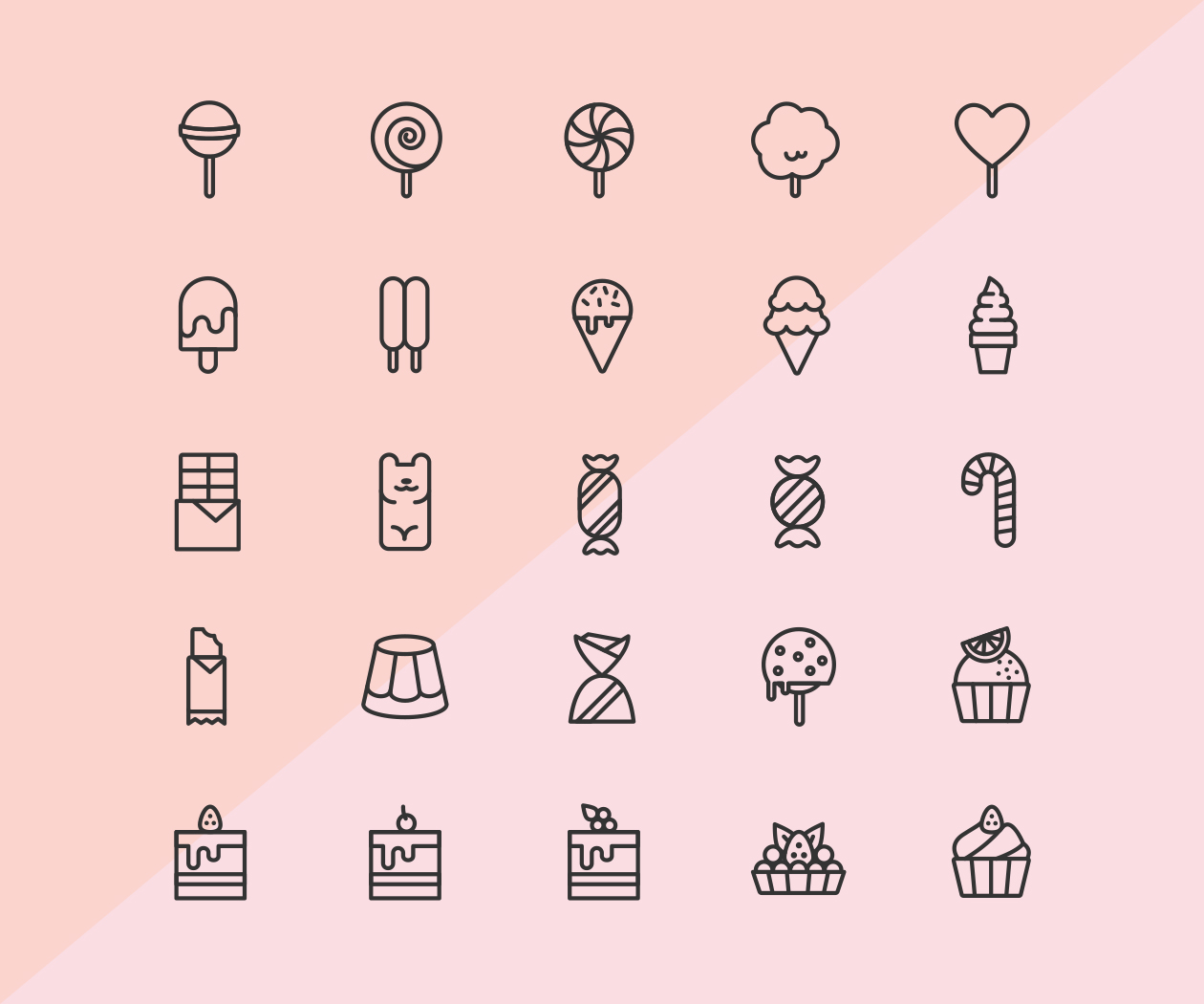 Candy & Pastry Icons