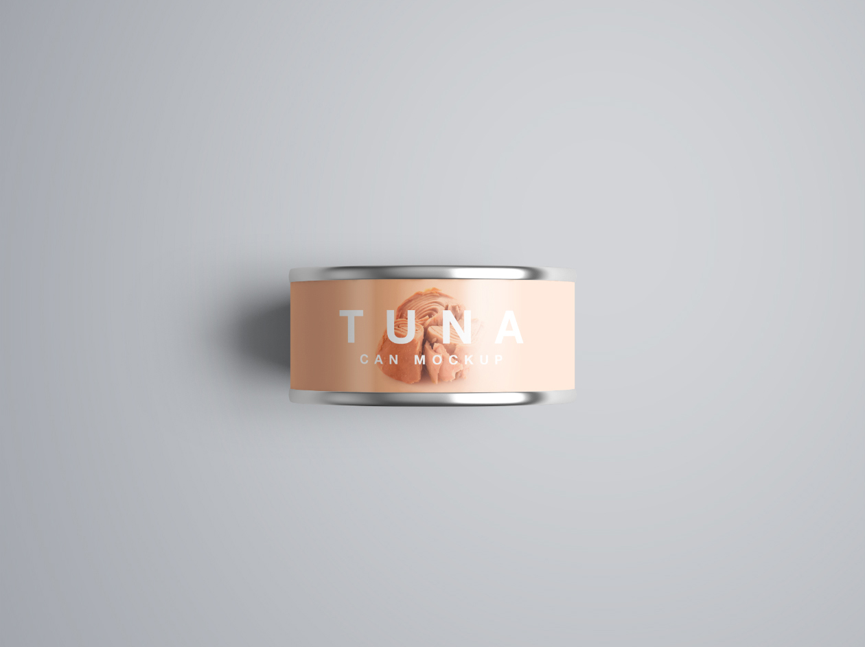 Psd Tuna Can Mockup