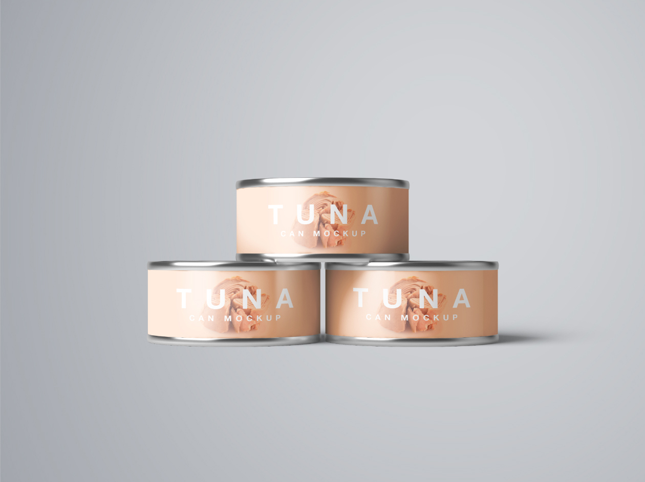 Photoshop Tuna Can Mockup