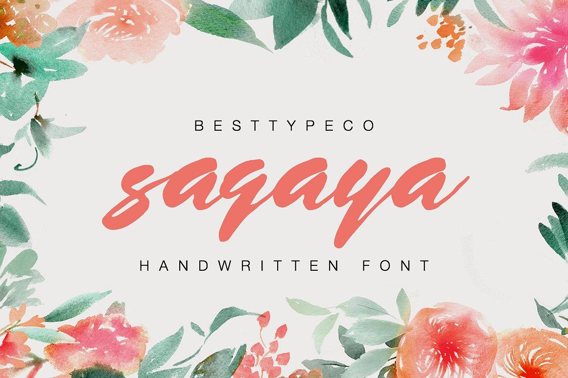 sagaya font