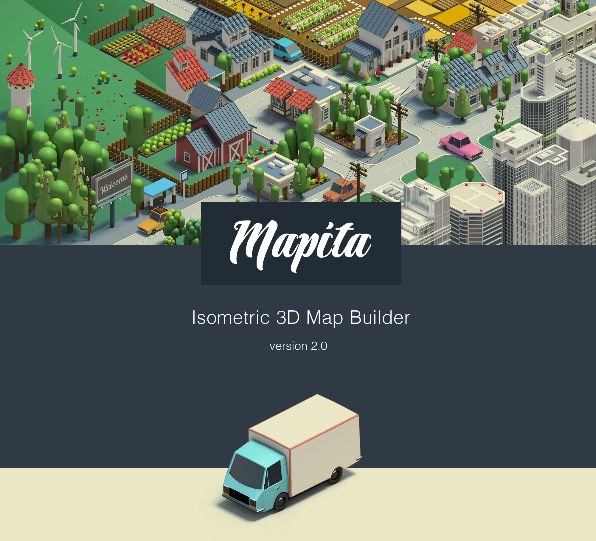 Mapita Isometric 3D Map