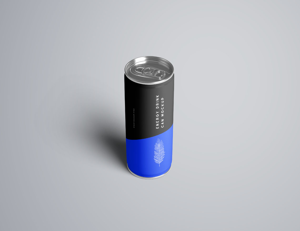 Perspective Energy Drink Mockup