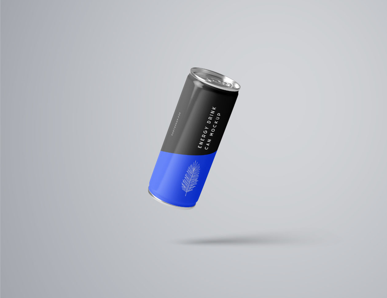 Flying Energy Drink Mockup