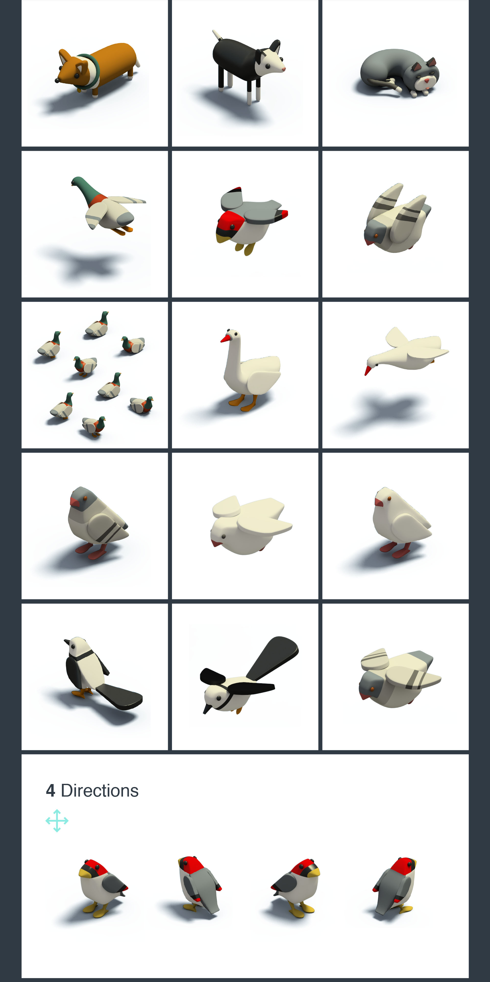 3D Isometric Animals