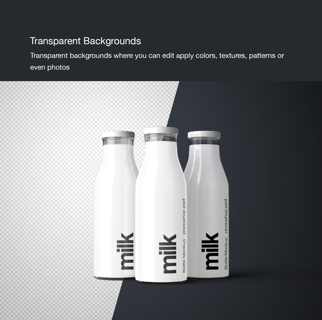 Milk Bottle Mockup