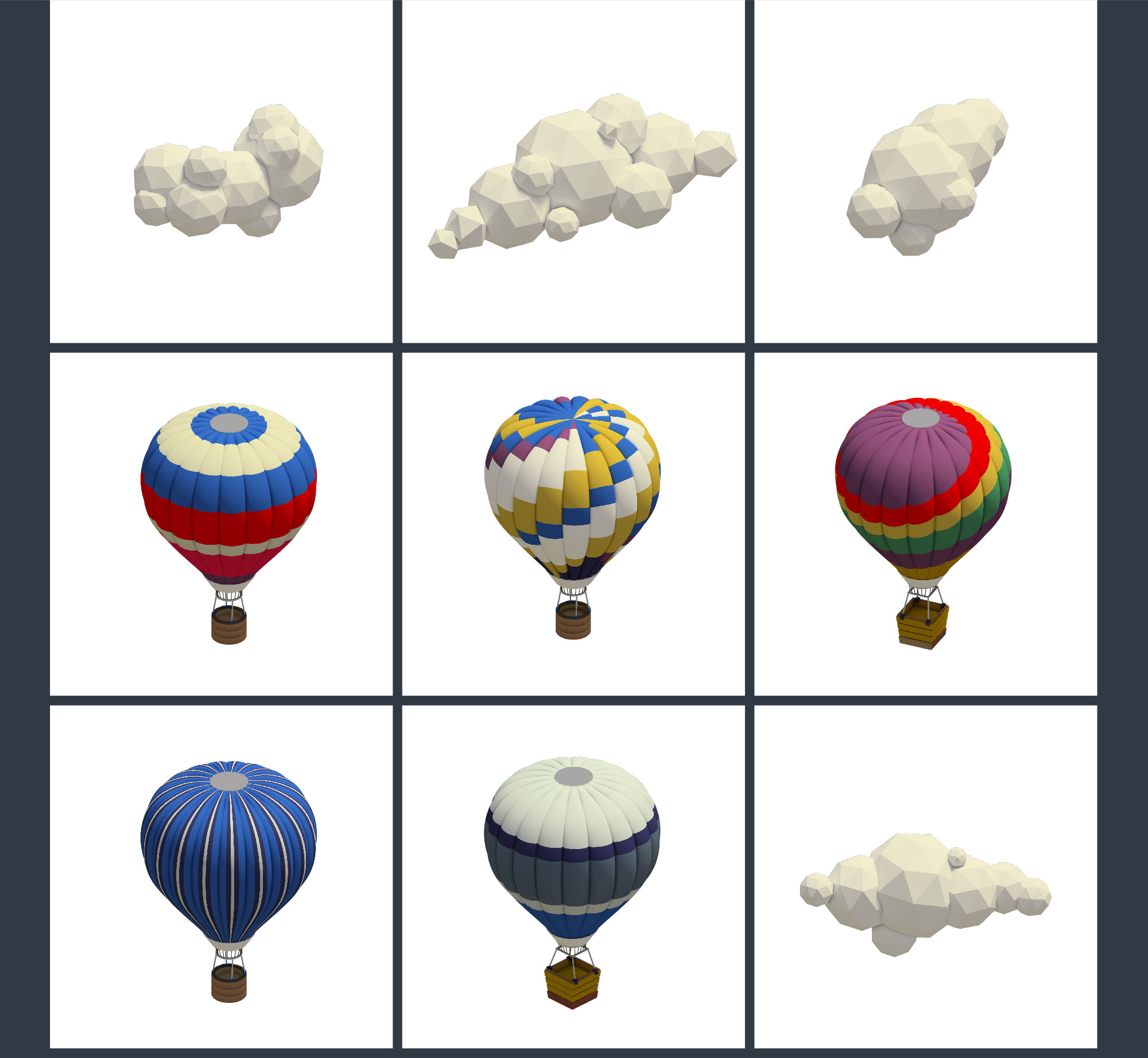 Air Balloons Clouds