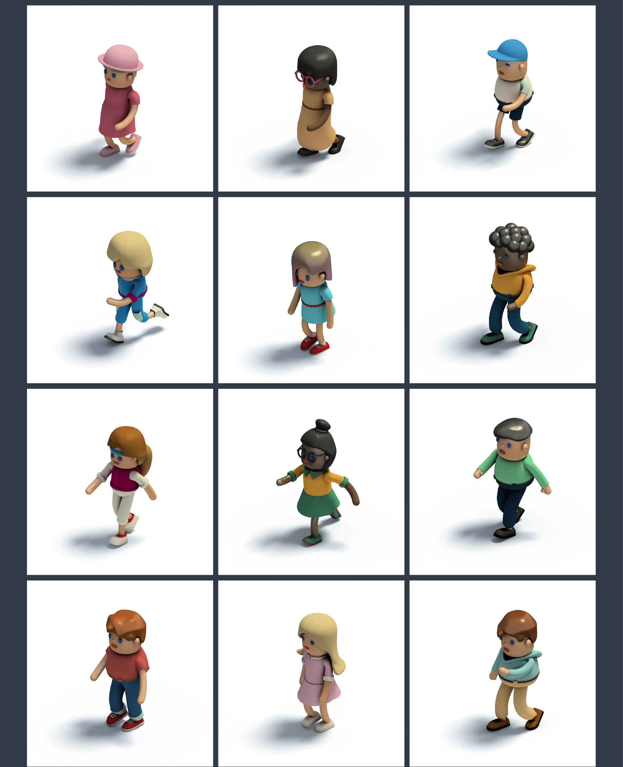 People Isometric Icons