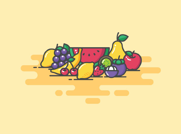 Color Fruit Icons