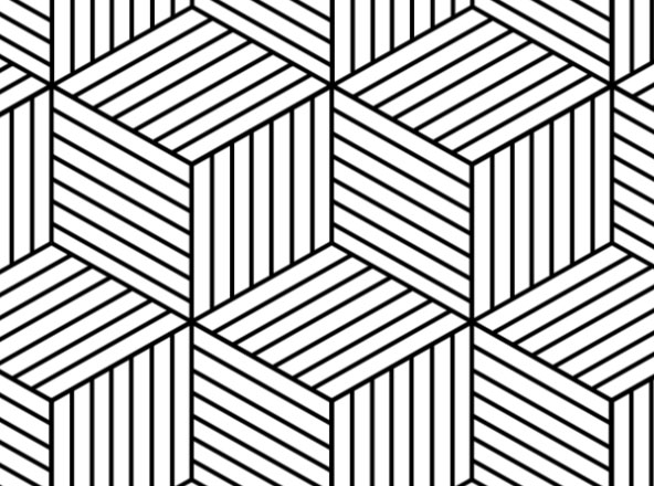hexagon geometric pattern