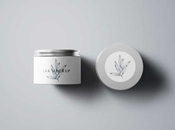 cosmetics jar  u0026 box mockups