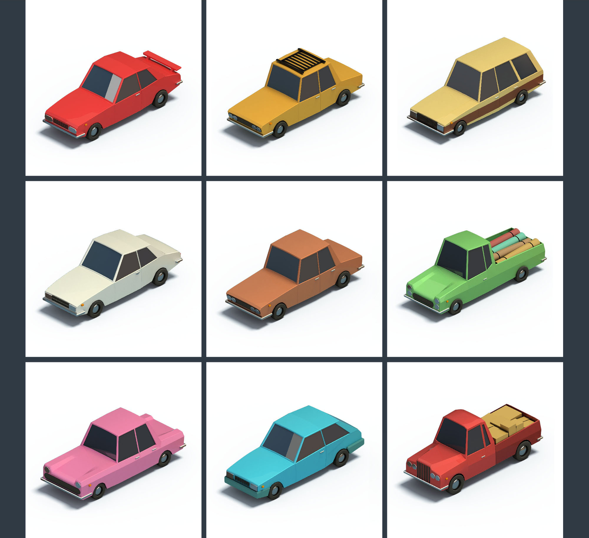 vehicles isometric icons