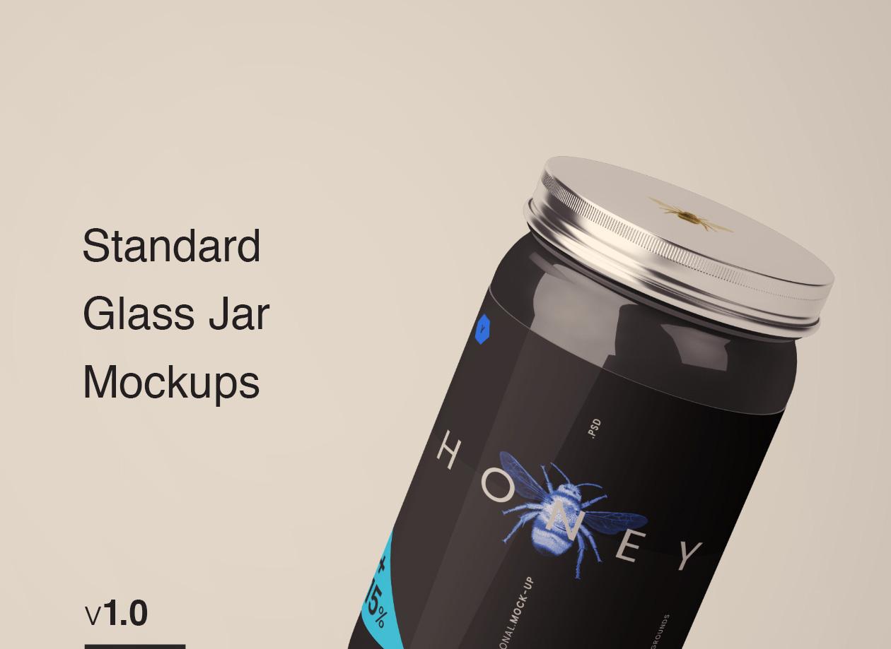 Black Jar Mockup