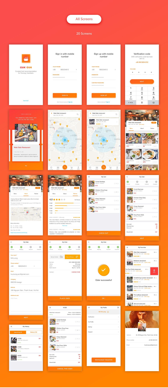 Restaurant App Psd