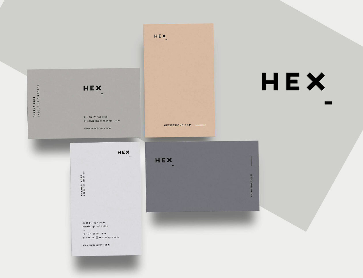 Hex Business Card Print Template - Business card print out template