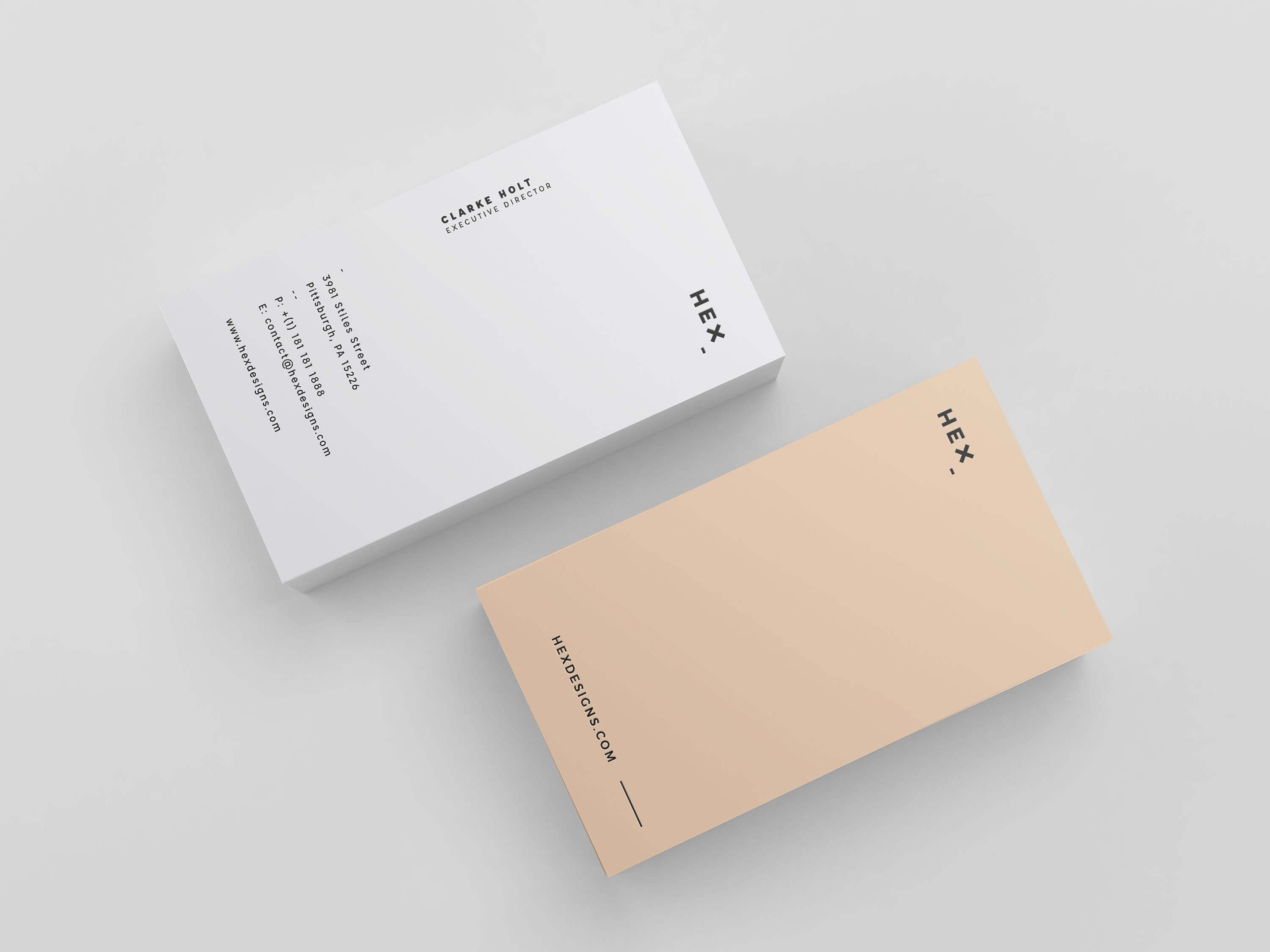 Hex business card print template hex business card template cheaphphosting Image collections