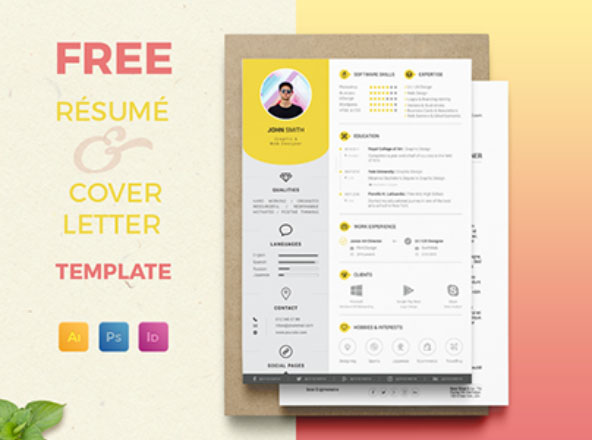 Graphic Pear  Free Professional Resume