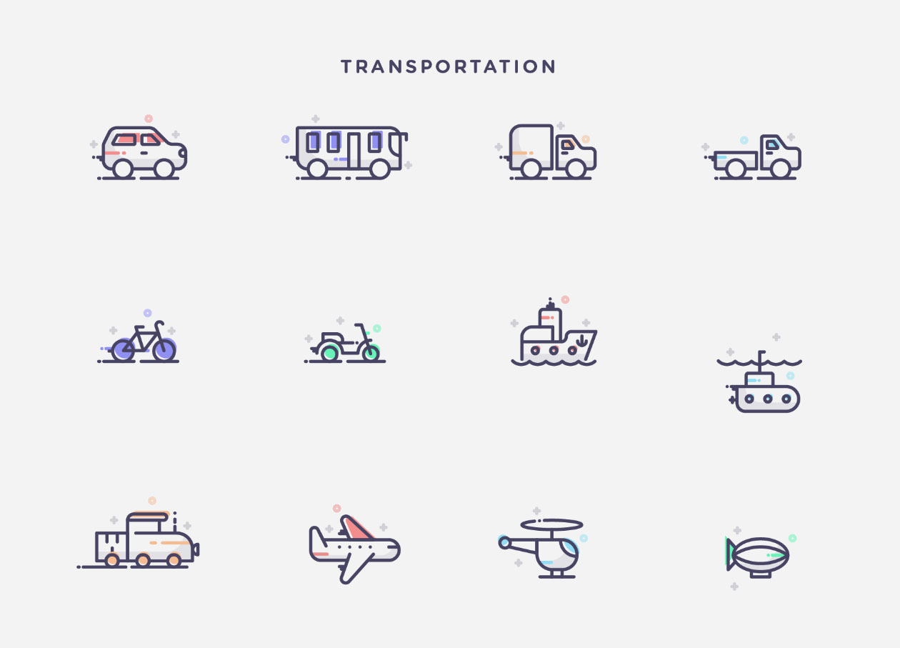 Transportion Icons
