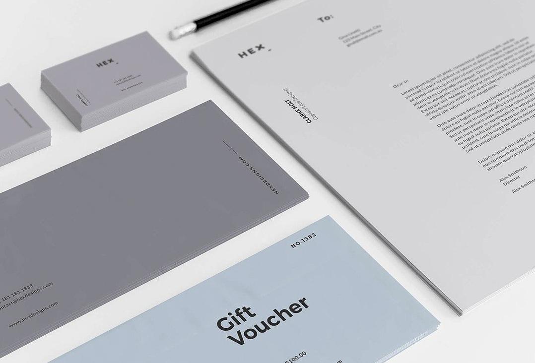 hex branding  u0026 identity print template
