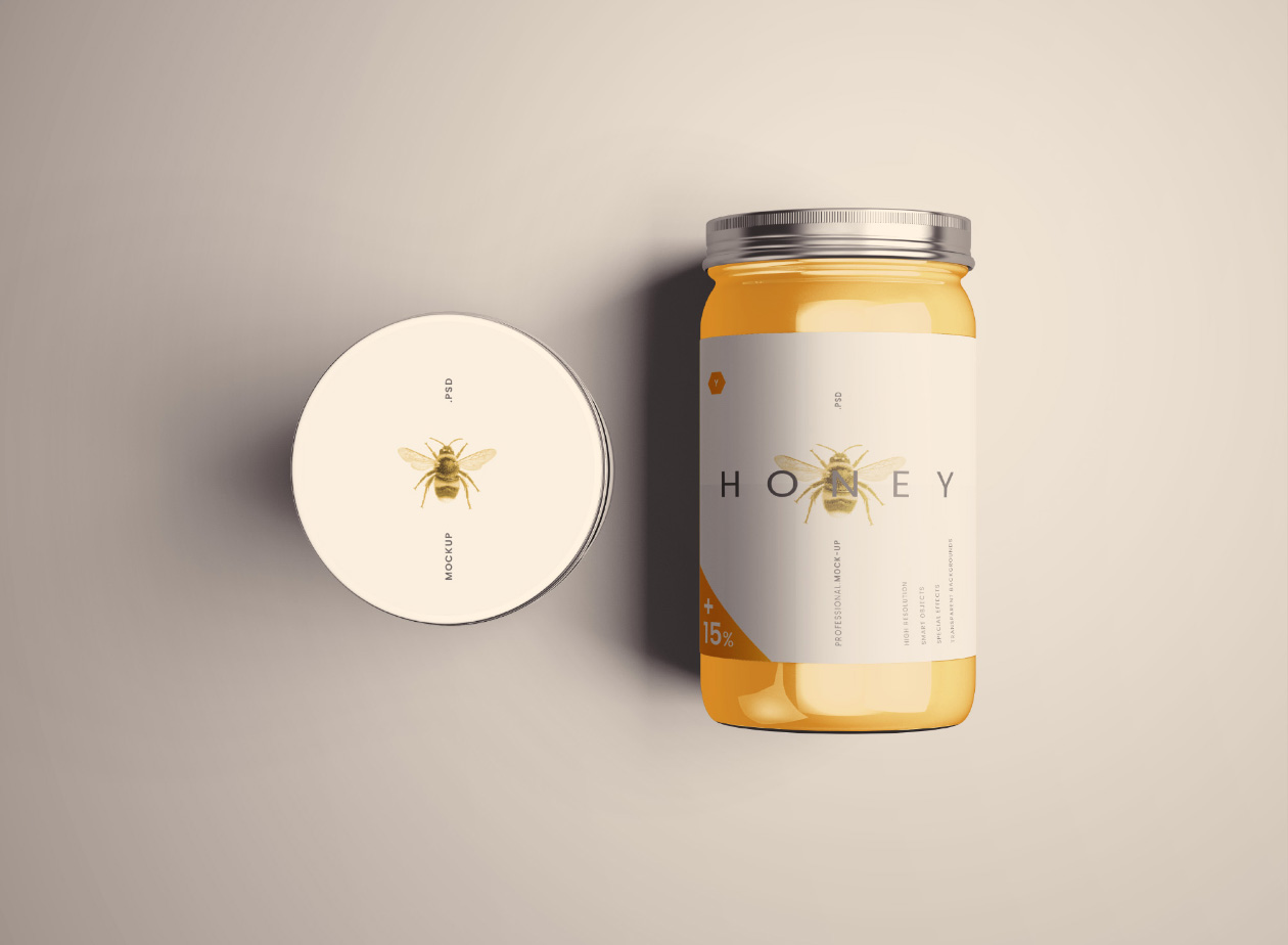 Standard Glass Jar Mockups