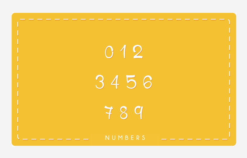 HoneyLlama Font Numbers