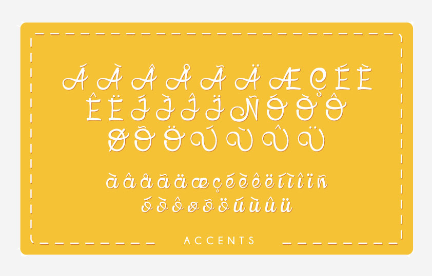 HoneyLlama Font Accents