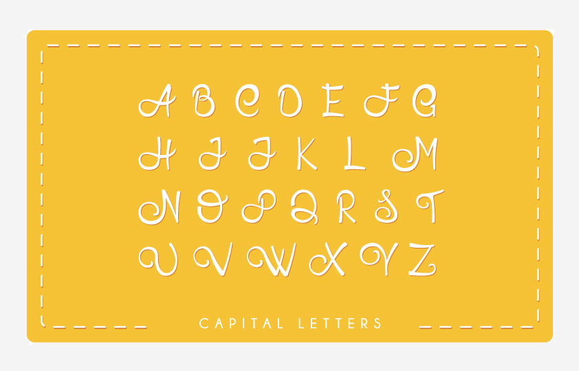HoneyLlama Font Uppercase