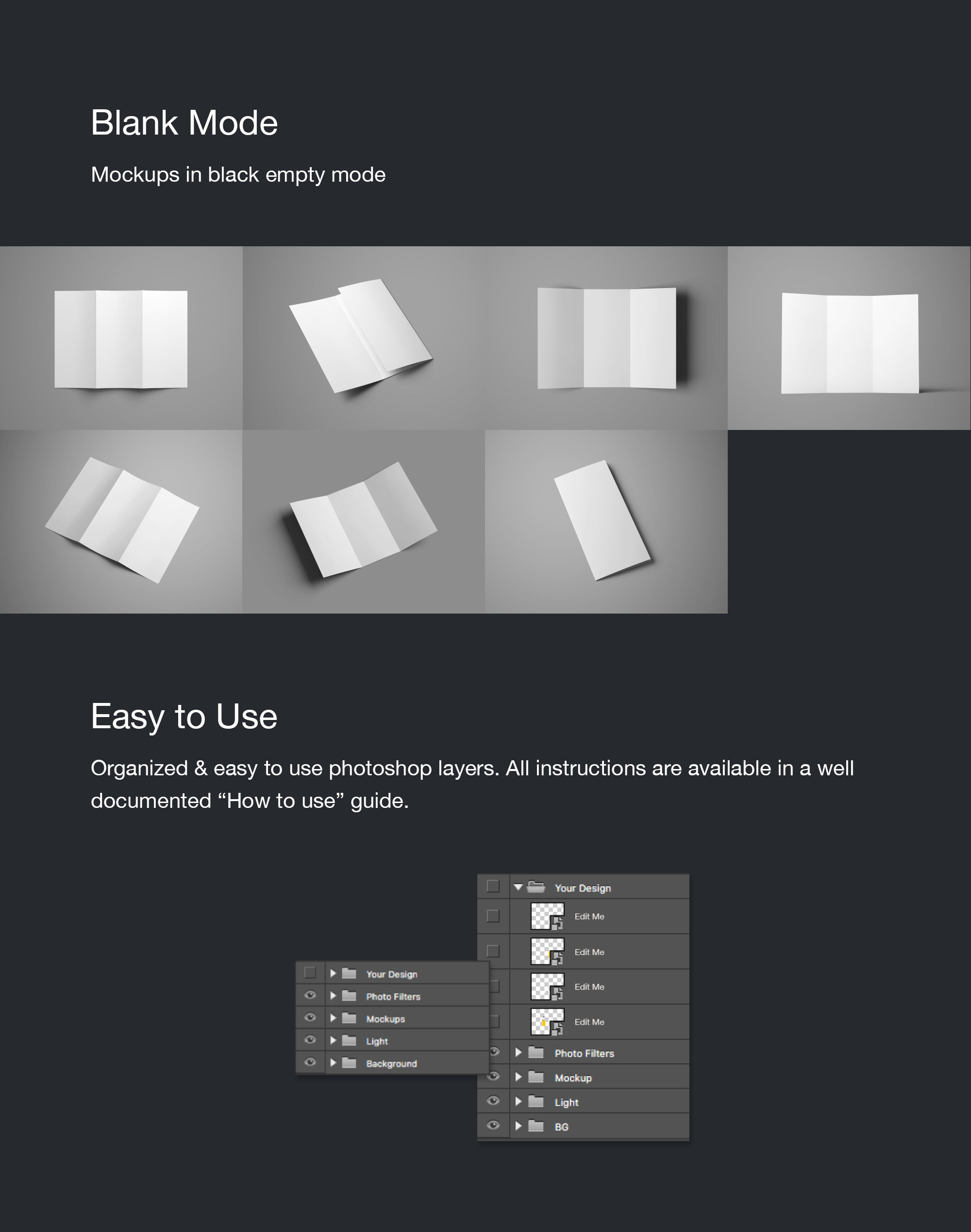 TriFold Brochure Mockup white