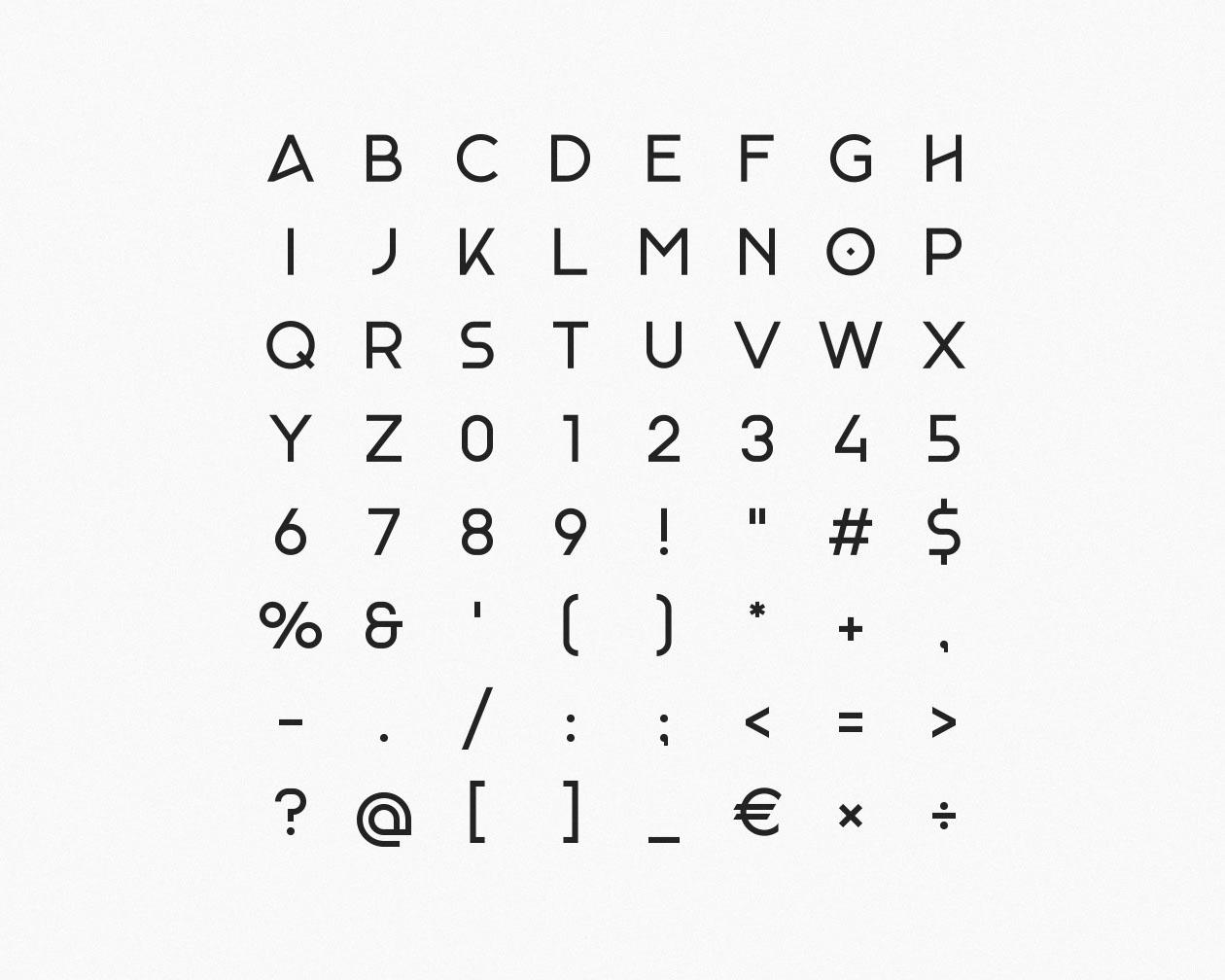 Monad Font Letters