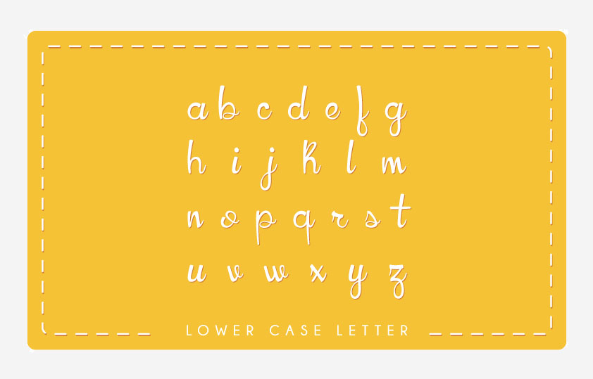 HoneyLlama Font Lowecase